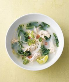 Coconut Chicken Soup With Chilies and Lime recipe
