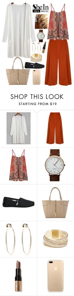 """""""White Kimono"""" by tonia-ro ❤ liked on Polyvore featuring Yumi, Monsoon, TOMS, Bebe, GUESS and Bobbi Brown Cosmetics"""