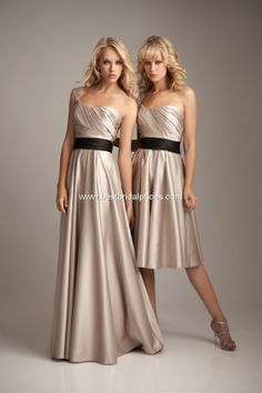 Allure Bridesmaid 1235, $154.00- @Chelsey Haight- love the dresses, maybe with a white sash??