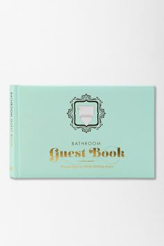 Buying this for my guest bathroom! You're welcome! - Bathroom Guest Book By Knock Knock