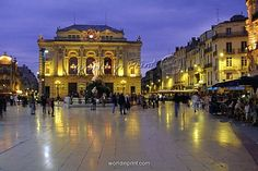 Place de la Comedie, Montpellier France. France Travel & French Language Travel in France and learn fluent French with the Eurolingua Institute http://www.eurolingua.com/french/homestay-france-2