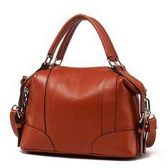 083d34b301b4 IMIDO Brand Fashion Female Handbag Genuine Leather Shoulder Messenger Bags  Ladies Zipper boston Bag for Women Totes Black