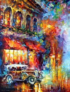 Art For Home Decor Colorful Oil Painting On Canvas By Leonid Afremov Studio - Old Vitebsk 2 City Painting, Oil Painting Abstract, Painting Canvas, Colorful Paintings, Beautiful Paintings, Popular Art Paintings, Large Canvas Prints, Art Prints, Leave Art