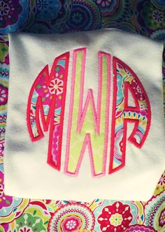 Monogram Applique by MadewithLoveNC on Etsy, $23.00  visit www.facebook.com/madewithlovenc