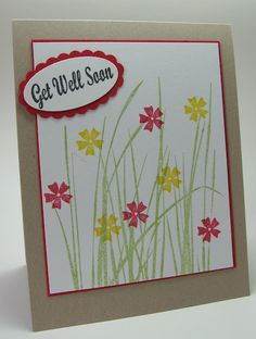 stamping up north: get well cards