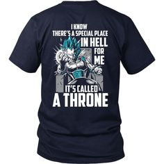 Super Saiyan - Vegeta God Blue stay on throne - Men Short Sleeve T Shirt -TL00238SS