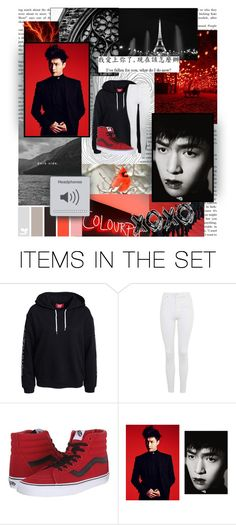 """""""Monster"""" by emolu7 ❤ liked on Polyvore featuring art, EXO, lay and yixing"""