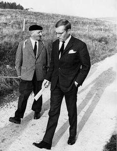Martin Heidegger and Rudolf Augstein, 1966 ~ by Digne Meller Marcovicz