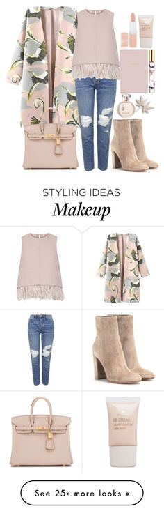 """""""BattyN"""" by grafonski on Polyvore featuring Topshop, The 2nd Skin Co., Gianvito Rossi, Rimmel, Pieces, Kate Spade, Estée Lauder and Hermès"""