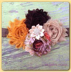 Shabby Tea Party Headband Vintage Style Headband by MiyahsCloset, $12.99