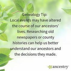 Which historical events may have influenced your ancestors' moves or decisions?  #ancestry #genealogy #history #heritage #roots #familyhistory #familytree #historicalevents #History #USHistory #unitedstates