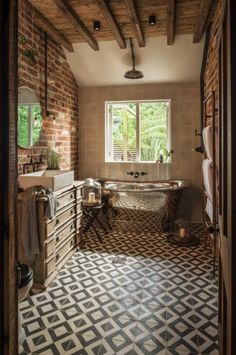 85 Modern Farmhouse Bathroom Design Ideas Source by Modern Farmhouse Bathroom, Farmhouse Ideas, Beautiful Bathrooms, Design Case, Bathroom Inspiration, Bathroom Ideas, Bathroom Renovations, Bathroom Interior, My Dream Home