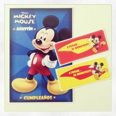 Mickey Mouse - Invitacion + Memotest