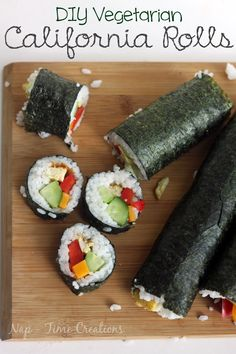 DIY Vegetarian California Rolls by Nap-Time Creations