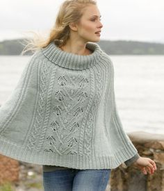 Frozen Ivy Poncho Free Knitting Pattern and more free poncho knitting patterns