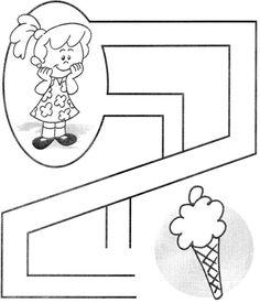 Kids Learning Activities, Summer Activities For Kids, Infant Activities, Teaching Kids, All About Me Preschool, Preschool Math, Preschool Worksheets, Maze Worksheet, Mazes For Kids