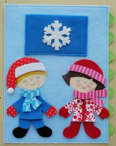 love this for a #quiet book. Cute seasonal dress up dolls!
