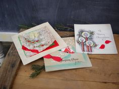Lot of 3 Vintage Christmas Cards / 3 1930's by JMFindsandDesigns