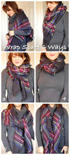 Wrap Scarf 6 Ways via Glamvolution