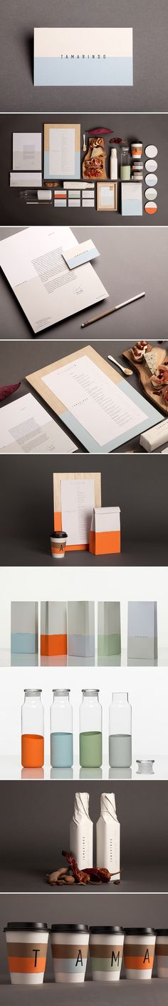 Color blocking identity for bar / restaurant. I love the simple elegance of this modern design. Clean but with fun colors. Branding ideas & inspiration.
