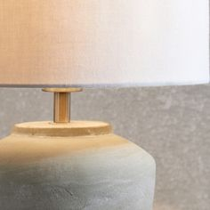 This stylish mini table lamp is perfect for bedrooms, or living rooms – we love to place one either side of the bed, or sofa, for a beautifully symmetrical look. With a striking ceramic base that's treated with a distressed grey-wash finish Stone Lamp, The White Company, Grey Wash, Glow, Table Lamp, Bulb, Indoor, Mini, Lighting
