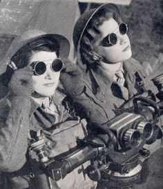 Women of the British Armed Forces circa 1940's. This is not dieselpunk; This is real life awesome.