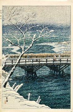 Echigo-Kashiwazaki, Niigata (Landscape and snow), by Shiro Kasamatsu, 1954