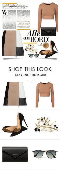 """""""NUDE"""" by forever-makayla on Polyvore featuring Alexander Wang, Christian Louboutin, Michael Aram, Balenciaga, Ray-Ban and Helen Moore"""
