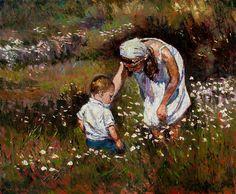 """Darío Mastrosimone, """"Flores de primavera"""" óleo 50 x 60 cm."""