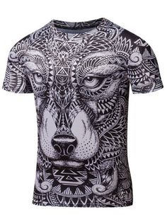 GET $50 NOW | Join RoseGal: Get YOUR $50 NOW!http://www.rosegal.com/mens-t-shirts/ornate-animal-print-round-neck-690199.html?seid=7640221rg690199