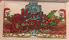Just a little different. Lol 😊😊😊 30 Pages in 30 Days Day 19 Artist: Sarah Clark  Book: Coloring Christmas (Pocket Edition) #sarahrenaeclark #coloringchristmas #pocketedition