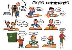 English vocabulary - Class commands