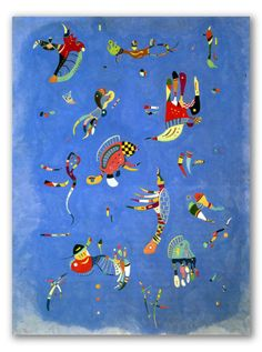 Buy Sky Blue by Wassily Kandinsky as a framed art print. Learn more about this famous Kandinsky painting. Wassily Kandinsky, Kandinsky Kids, Blue Painting, Himmelblau, Oil Painting Reproductions, Art Plastique, Oeuvre D'art, Art History, Graphic Art