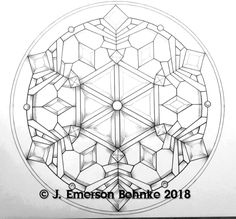"""""""Snowflake. A pattern for stained glass. Pattern is a Black and White digital pdf file. Designed at 17.5\"""" Round ( 44.45 cm ). File is available for download."""" Custom Stained Glass, Stained Glass Designs, Stained Glass Patterns, Stained Glass Windows, Glass Structure, Black And White Prints, Suncatchers, Glass Ornaments, Snowflakes"""