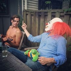 Can they please stop hiring beauties like Bill Skarsgard to play psychopaths? I'm starting to develop an unhealthy obsession. Skarsgard Brothers, Skarsgard Family, Allegiant, Insurgent, Landon Liboiron, Bill Skarsgard Pennywise, Gustaf Skarsgard, Hemlock Grove, Alicia Vikander