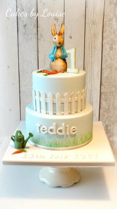 Peter Rabbit christening cake - Cake by Louise Jackson Cake Design