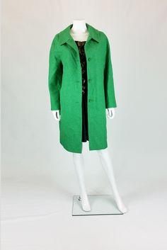 DAMSEL IN A DRESS SALLY FULL LENGTH WOOL COAT GREEN UK 12