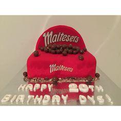 Malteser box cake! Birthday cake for chocolate lovers!