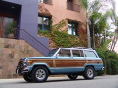 """Retrofit! Jeep Grand Wagoneers  This guy does serious redos.  We always fantasized about doing something like this to Jessica Jeep """"- Full, Professional, Ground up Restorations. The finest, better-than-new Jeep Grand Wagoneers in the World"""""""