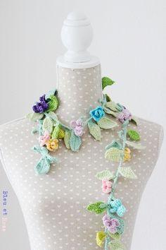 crochet floral lariat - for sale on European site