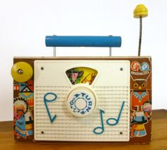 This is a Vintage c. 1962 Fisher Price 10 Little Indians TV-RADIO Toy. Made of wood and plastic. Fisher Price Toys, Vintage Fisher Price, Tv Radio, Tv On The Radio, Toys In The Attic, Christmas Things, Childhood Toys, Old Toys, Made Of Wood