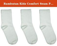 Kids School Sport Bamboo Seamless Short No Show Ankle Socks 3 PACK by Rambutan