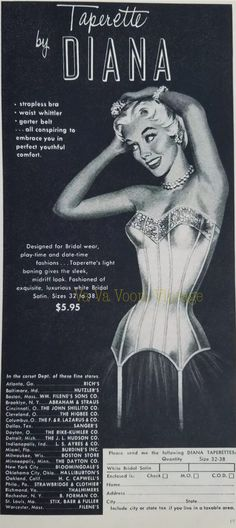 Original 1942 Print Ad Munsingwear Foundettes Girdle Bra Undergarments Art Colours Are Striking Collectibles