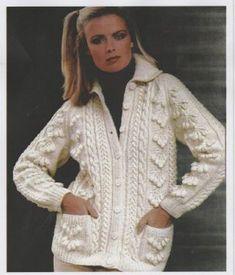 Pullover & Sweaters Retro Damen Langärmlig Jumper Rundhalsausschnitt Kabel Strick Vintage Pullover Bekleidung