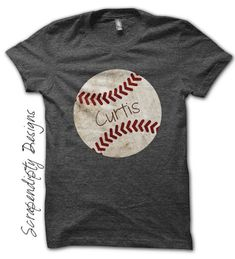 Customized Baseball Shirt – Baseball Dad T-Shirt / Grungy Baseball Mom Outfit / Toddler Tee Ball / Iron On Transfer Pattern by Scrapendipity Designs Baseball Shirts For Moms, Softball Mom, Sports Shirts, Softball Shirts, Softball Cheers, Baseball Girlfriend, Softball Crafts, Softball Pitching, Softball Quotes