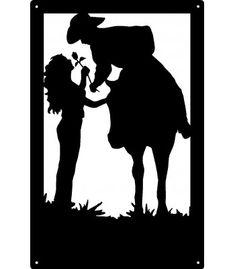 Cowboy and Cowgirl Romantic Couple Wall Art Sign Silhouette Sign, Couple Silhouette, Silhouette Cameo Projects, Cowboy Art, Cowboy And Cowgirl, Kirigami, Plasma Cutter Art, Lampe Decoration, Globe Art