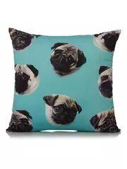 Bright Multi Pug Cushion