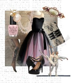 """Night at the Ballet"" by primnpurdy on Polyvore"