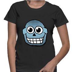 Blue Skull shirt  #skull #skulls #skulltees #blueskulls #funnyskulls #cartoonskull #teepublic