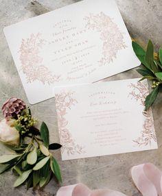 The Best of 2016: Wedding Invitations   Rose Gold Letterpress Invitations by Minted   Photo: Anna Delores #fluttermagissue12 #spainwedding #letterpress